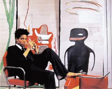 美国涂鸦艺术家受看中 巴斯奎亚特(Jean-Michel Basquiat)作品拍出天价