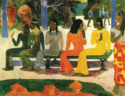 世界名画系列 为画坛注入革新观念 高更(Paul Gauguin) 独创综合主义绘画风格