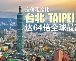 房价租金比 台北(Taipei)达64倍全球最高