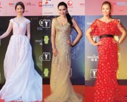 第17届上海国际电影节 女星华丽霓裳争艳斗绿