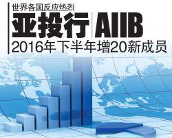 世界各国反应热烈 亚投行AIIB 2016年下半年增20新成员
