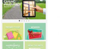 康宁药剂(Caring Pharmacy)3月30日 推出购物者忠诚计划应用程式