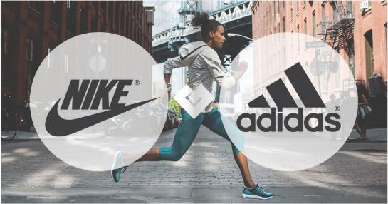 """两个运动服装品牌  阿迪达斯(Adidas)与耐克(Nike)  在世界杯上来一次""""新较量"""""""