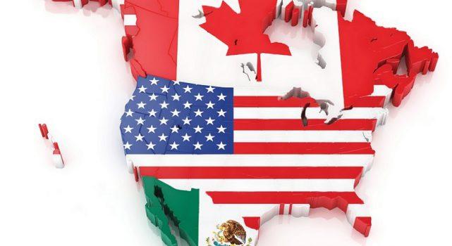 抛开加拿大(Canada)  美国(United States)和墨西哥(Mexico)  达成新北美自贸协定