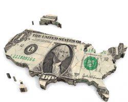 美国(United States) 最富有10%家庭 拥有国家全部财富的70%