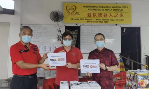 东盟连锁加盟企业协会携手 与马来西亚中小型企业公会 发起慈善募款活动资助弱势群体