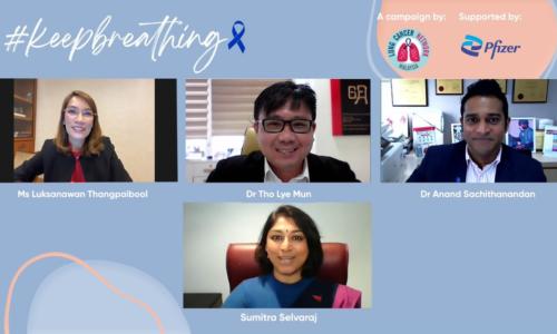 LCNM与Pfizer合作推介  #KeepBreathing活动致力协助肺癌社群